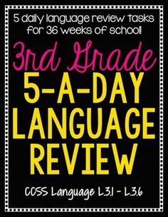 3rd Grade Daily Language Review