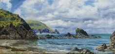 John Brett - Forest Creek, Newport Sandbanks, Pembrokeshire Coast, 7x14in, 15th July, 1882