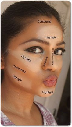 We know makeup covers up unpleasantries. But what we may not think of is using our makeup to highlight our best features. Using this image we can see the c