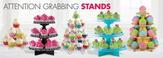 Wire & Cardboard Cupcake Stands - Cupcake Holders - Party City