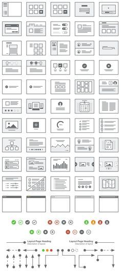 Preview for Lil Pages - 50 UI Layouts. If you like UX, design, or design thinking, check out theuxblog.com