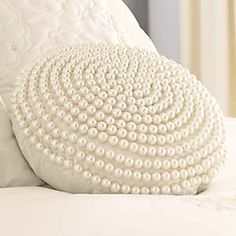 So I couldn't resist, ordered two of these pretty pearl cushions for my bedroom :)