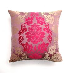 Lavender Damask Pillow now featured on Fab.