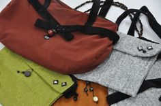 playing with textures, shapes, and colors     as a result, pretty and useful handbags