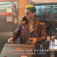 Jared Leto aka the #Joker behind the scenes of Suicide Squad.