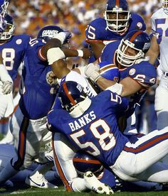 New York Giants. Super Bowl XXI.