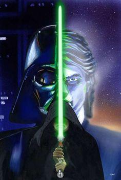 Darth Vader, Anakin Skywalker, and Luke Skywalker
