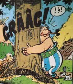 obelix uproots a tree and idefix gets a shock about that! Asterix Y Obelix, Comic Art, Comic Books, Bilal, Morris, Air Space, Space Crafts, Comic Strips, Movie Stars