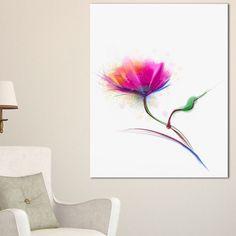 Isolated Purple Poppy Flower - Flower Wall Art