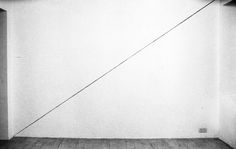 """sol lewitt, """"a line from the lower left corner to the upper right corner, no. 175"""" (1973)"""