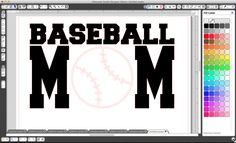 Silhouette Cameo Baseball Mom T-Shirt Project