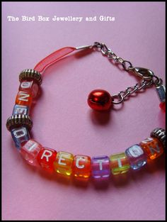 One Direction beaded bracelet. Part of the Hello Kitty jewellery box that was made for special little girls birthday xx