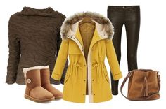 """Winter 5."" by szunda on Polyvore featuring Alexander McQueen, Current/Elliott and UGG Australia"