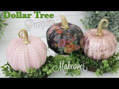 (423) Dollar Tree DIY Pumpkin Makeover | Pumpkin Decor - YouTube