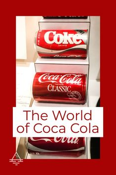 An American Classic - Coca Cola! Check out this museum in Atlanta, Georgia which chronicles Coke's history, both good and bad! World of Coca Cola : What to Expect - TRIPS TIPS and TEES World Of Coke Atlanta, Coca Cola Museum, Atlanta Museums, Coca Cola Brands, Atlanta Travel, Coca Cola Decor, World Of Coca Cola, Sodas