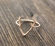 Antler ring Deer ring stag ring horn ring by zizibejewelry on Etsy