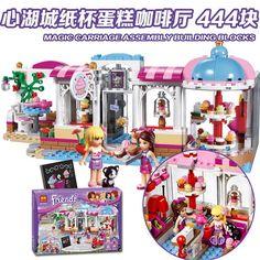 24.69$  Watch here - BELA Original Friends Heartlake Cupcake Cafe Figures Building Blocks Set Model Brick Girl Toy  41119  #buychinaproducts