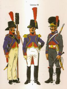 Spanish; Variations described in Foot Artllery on Campaign(both Gunner and Officer) and a handler of the Artillery Train
