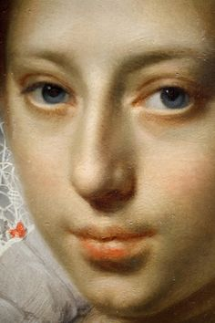 Art Institute of Chicago - face detail from Portrait of a Young Lady by Paulus Moreelse, c. 1620