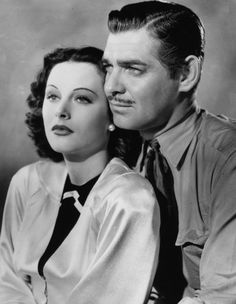 Hedy Lamarr and Clark Gable in Boom Town (1940)
