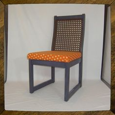 """Retro Kitchen Chair for Anywhere: """"Purple  Jeanette"""" by StephanieJaneUpcycle, $199.00 - refinished and refurbished using eco-friendly products"""