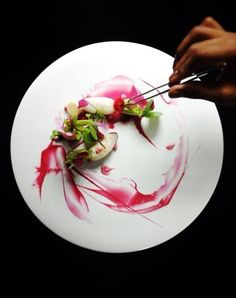 Yann Bernard Lejard- love the saucing, looks like watercolor painting / gastronomy