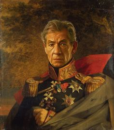Steve took digital copies of George Dawe's paintings of russian generals and added celebrities faces to the portrait using photoshop. So as always, enjoy & live inspired!