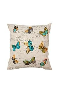 EMBROIDERED MULTI BUTTERFLY 50X50CM SCATTER CUSHION