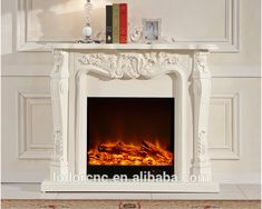 Source Ivory White antique decor flame electric fireplace and mantel on m.alibaba.com Big Lots Fireplace, Electric Fireplace With Mantel, Fireplace Update, Fake Fireplace, Electric Fireplaces, Fireplace Outdoor, Fireplace Tv Stand, Fireplace Inserts, Antique Decor
