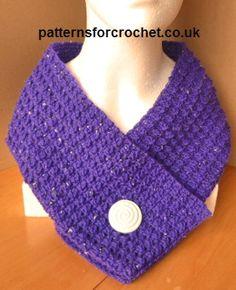 Free crochet pattern scarfette usa