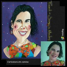 Freeart - Joaquim Mendes  Pintura manual reproduzindo foto em formato de caricato.