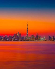 dubai sunset - Αναζήτηση Google Best Sunset, Beautiful Sunset, New York Travel, London Travel, Skyline Painting, International Holidays, Europe Holidays, City Photography, Creative Photography