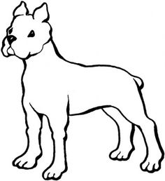 dog color pages printable | Boxer coloring page | Super Coloring