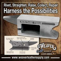 The Heritage® Harnessmaker's Combination Anvil is an essential for any leather work bench! Check it out right here at: http://www.weaverleathersupply.com/catalog/item-detail/8712/001/208