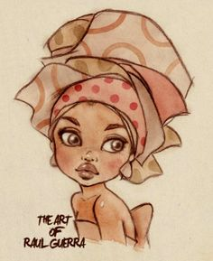 Love this, reminds me of myself when I wrap my hair