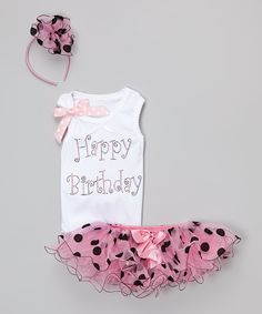 Look what I found on #zulily! Pink Polka Dot Tutu Set - Infant, Toddler & Girls by So Girly & Twirly #zulilyfinds