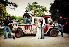 Such a cowboy wedding :)