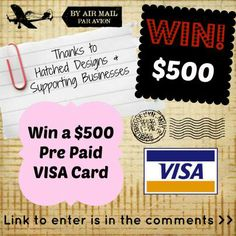 Win a $500 pre-paid VISA CARD Re-pin and share and Enter here - http://www.hatcheddesigns.com.au/#!giveaway/c1xlg