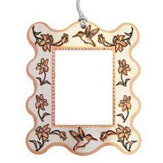 Hummingbird Photo Frame Ornament