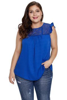 Plus Size Lace Yoke Tops   Divas Fashions
