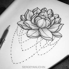 water Lilly tattoo design