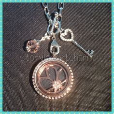 Rose Gold flower window plate fits large origami owl locket available at  http://www.amazon.com/gp/aw/s/ref=mw_dp_a_s?k=storylocketcharm