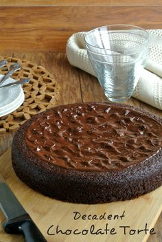 A fabulous dessert after a fabulous meal.  Decadent Chocolate Torte is a special dessert. Amazing combo of ingredients and you will think it is from the ritziest of restaurants. You can make it!