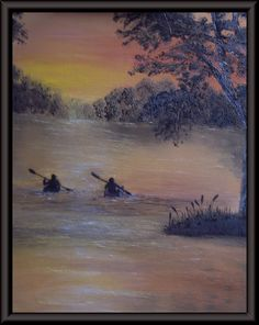 Kayaking- Creative Work of Linda Clark