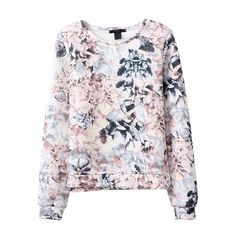 Choies 3D Floral Print Long Sleeve Sweatshirt (€19) ❤ liked on Polyvore featuring tops, hoodies, sweatshirts, multi, floral sweatshirt, long sleeve tops, long sleeve sweatshirt, floral print sweatshirt et floral print top