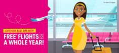FlySafair is giving you a chance to win free* flights for a whole year. Enter now to stand a chance to win. #Free2Fly
