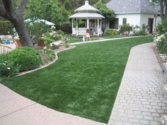 PreGra BlueGrass Artificial Grass Sold by the Linear oz. Faceweight Wide by Any Length you Need, in One Foot Increments Lawn And Landscape, Landscape Design, Garden Design, Landscaping With Rocks, Outdoor Landscaping, Synthetic Lawn, Artificial Turf, Low Maintenance Garden, Raised Garden Beds
