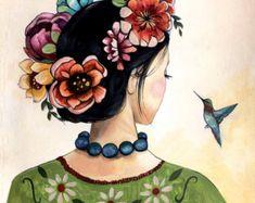 """""""La bellezza salverà il mondo"""" Miškin nell'Idiota di Dostoevskij--Frida inspired art print by claudiatremblay on Etsy"""