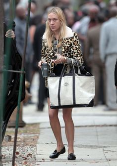 She looks a lil rough here - but the black bean tote! //  Chloe Sevigny Tumblr. : Photo