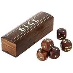 Game Wooden Dice Set In A Box Brass Inlay Art X Inch - Gifts for kids in Toys & Hobbies, Games, Board & Traditional Games Decorative Storage Bins, Storage Boxes With Lids, Wooden Storage Boxes, Wooden Jewelry Boxes, Wooden Boxes, Decorative Boxes, Indians Game, Wood Dice, Dice Box